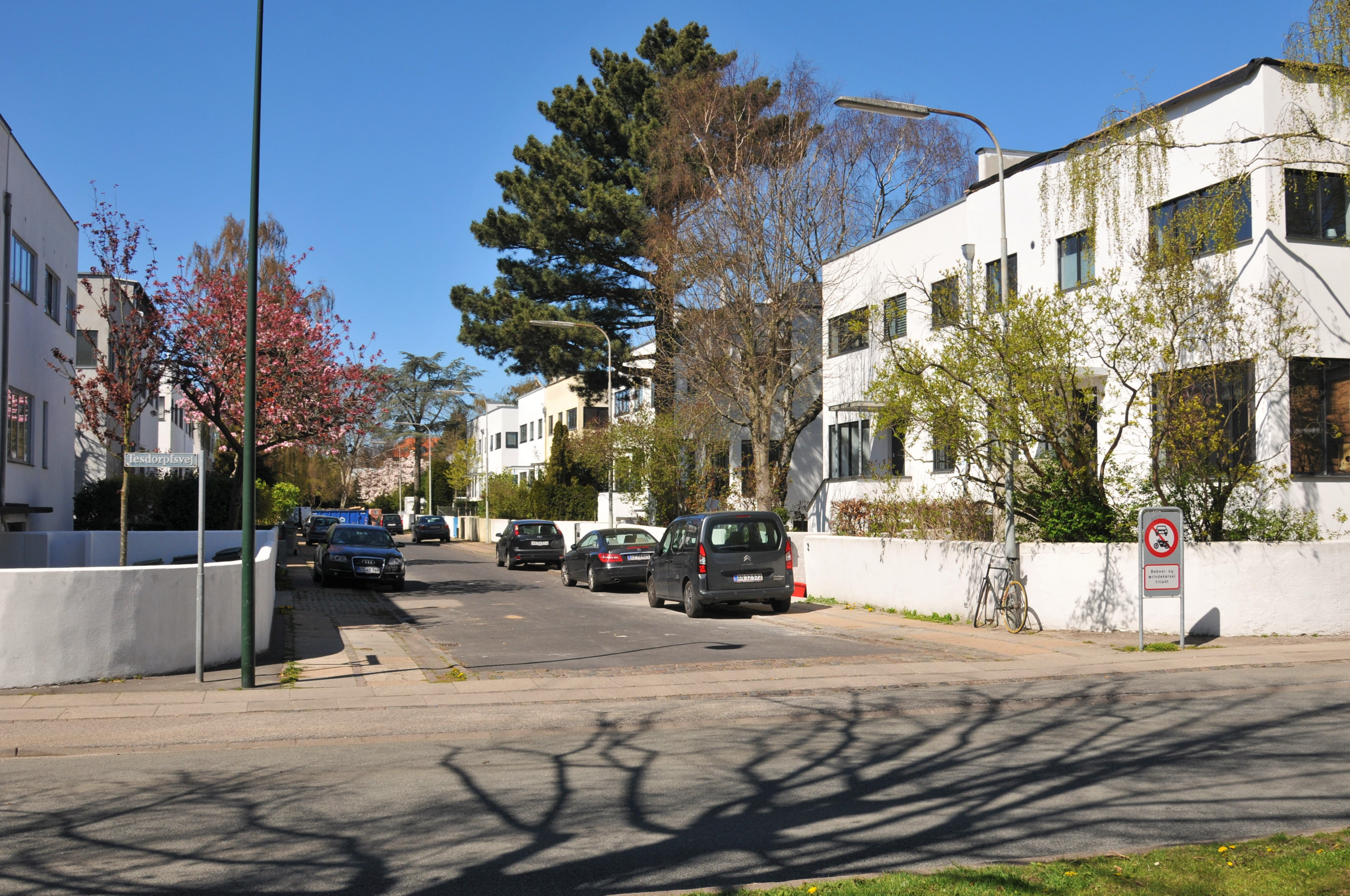 Modern buildings in Frederiksberg - Funkishusene (the functional houses) on Emanuel Olsens Vej