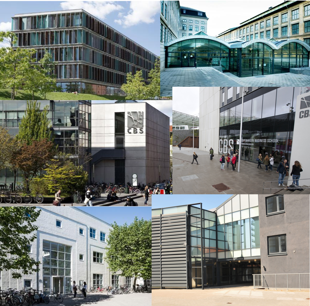 Modern buildings in Frederiksberg - Copenhagen Business School