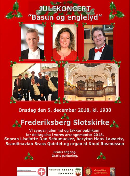julekoncert i Frederiksberg Slotskirke –  onsdag den 5. december 2018