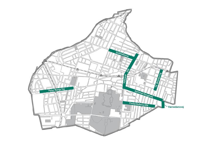 Kort Over Handelsgader Visit Frederiksberg