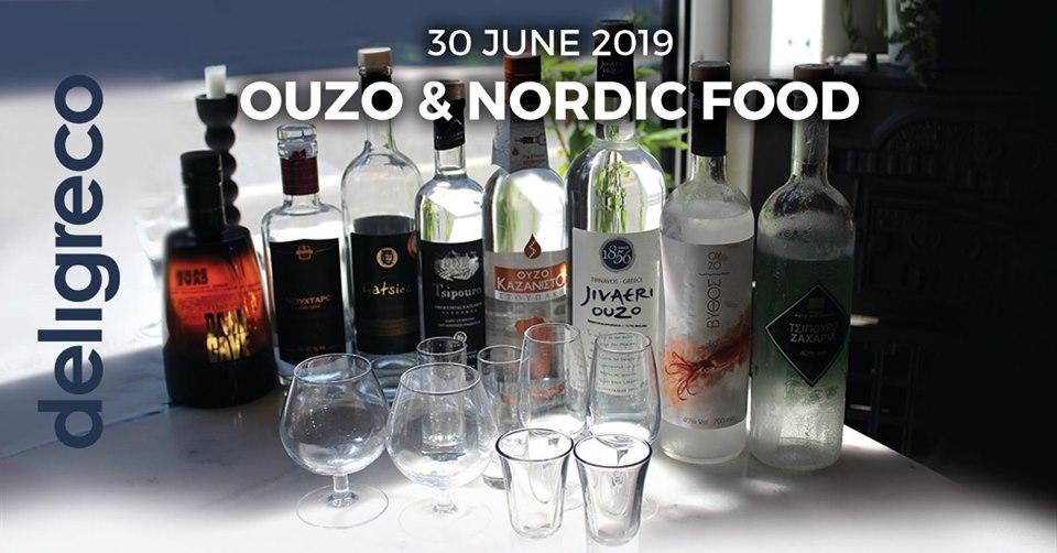 Tasting event | Ouzo & Nordic Food – den 30.juli .2019