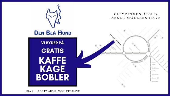 Den Blå Hund byder på gratis kaffe, kage og bobler – Søndag d. 29/9